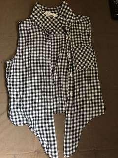 H&M plaid vest /Top( 8-10y)