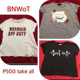Bundle branded shirts ALL Small P500