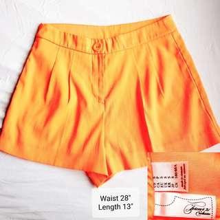 F21 orange shorts