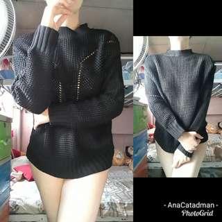 Black knit sweater top
