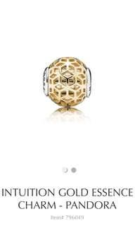 Genuine Discontinued Pandora Intuition Gold Essence Charm 796049