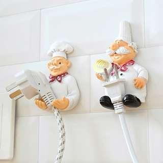 Creative Europe Kitchen Decoratibe Chef Plug holder