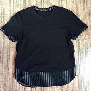 BLACK LONG TEE