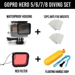 GoPro Waterproof Underwater Housing Set