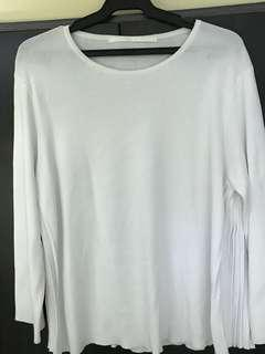Giordano Ladies Knitted plain long sleeve blouse