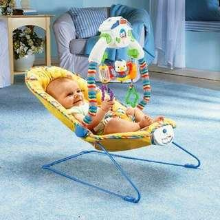 Fisherprice baby bouncer chair with play mobile