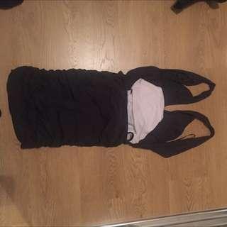 Kookai Size 2 Dress Open Back Charcoal Colour