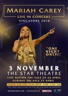 2 Mariah Carey concert tickets