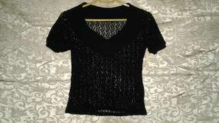 knitted see through top