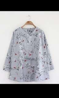 Flower Kimono Blouse