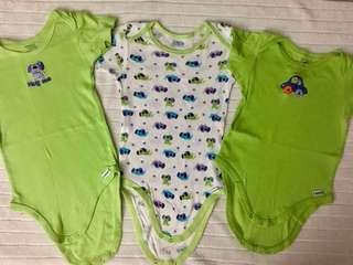 Bundle Green and White Onesies