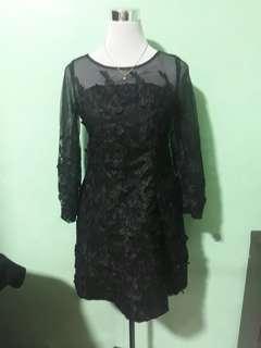 Elegant Classy Black Cocktail Dress