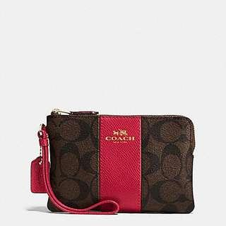 Coach Wristlet red on sale $300 small handbag