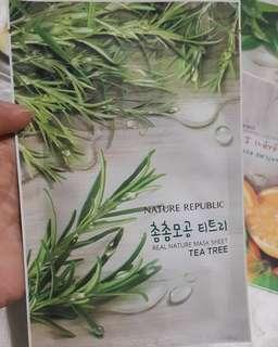 NATURE REPUBLIC SHEET MASK TEATREE OIL
