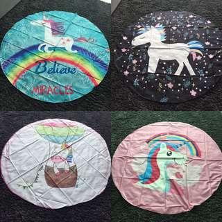 Unicorn Tapestry Mat & Lights Set