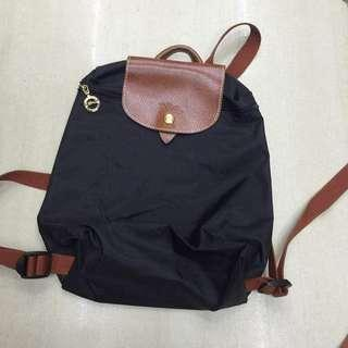 Authentic Longchamp Le Pliage backpack navy blue