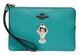 Coach limited leather wristlet on sale $380