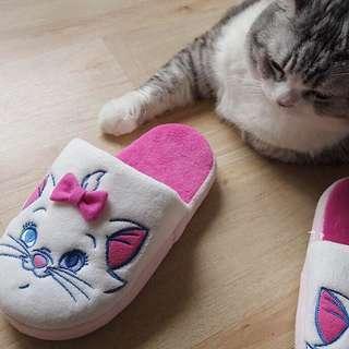 🚚 🌿日本迪士尼瑪麗貓室內拖鞋