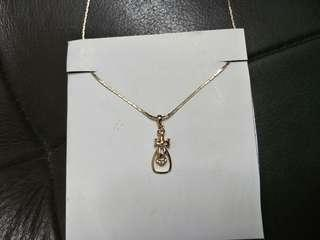 Rose Gold Ribbon Necklace #OCT10