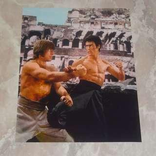 "Bruce Lee In Way Of The Dragon 8 x 10"" Color Photo 李小龍 Chuck Norris Colosseum"