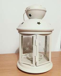 ikea 白色星星款玻璃燭台