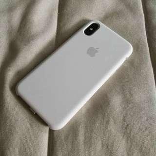 iPhone X Original White Silicone Case