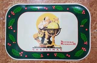 Norman Rockwell Christmas Placemat 4pcs.