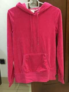 Set H&M hoodie N jogger velvet pink ori