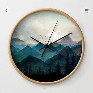 Wall Clock — Mountain Sunrise