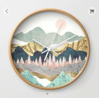 Wall Clock — Summer Vista
