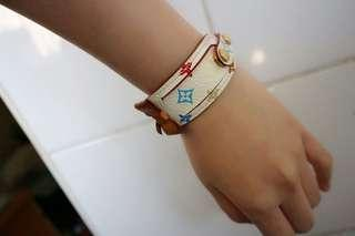 100% Real 絕版 Louis Vuitton Lv 村上隆 Monogram Multicolore 手帶 手鐲 bracelet 珍藏