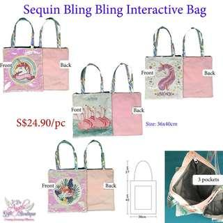 Sequin Unicorn Bling Bling Bag