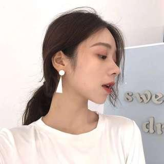 [NEW] Korean Fashion White Gold Plated Triangle Earring