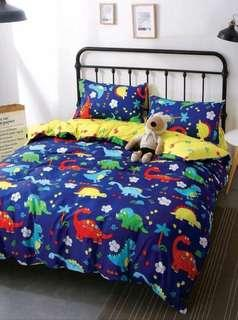 Dino bedsheet come with all sizes