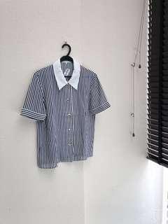 VintageWknd Vintage Shirt in Navy Stripes