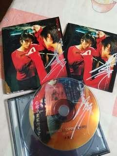 非賣品簽名cd 謝霆鋒 謝謝你的愛 cd 3個簽名