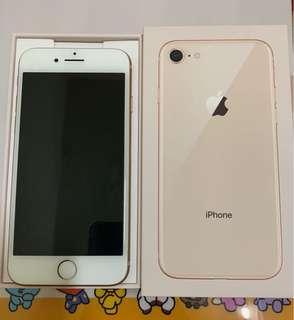 🚚 iPhone 8 64G金色 二手美機 無傷無泡水