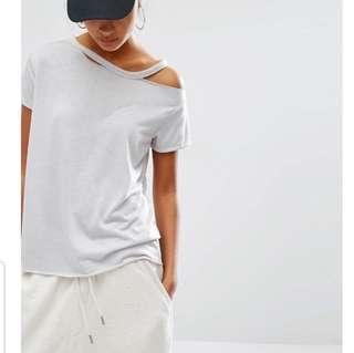 ASOS Daisy Street Relaxed Tee with Distressed Neck