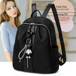 bag black Bahan longchamp uk 28x23x12 no gantungan kunci