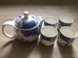 茶壺茶杯套裝(連茶隔)