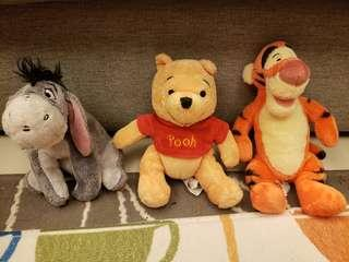 Winnie the Pooh Characters (pooh, tigger and eeyore)