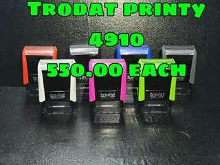Trodat and shiny stamps