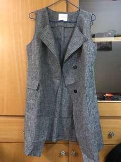 🚚 MEIER.Q 灰色 背心外套