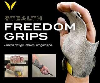 Victory Grips mens Freedom fingerless grips(Large)