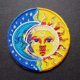 Sun Moon Horoscope Mystery Iron On Patch