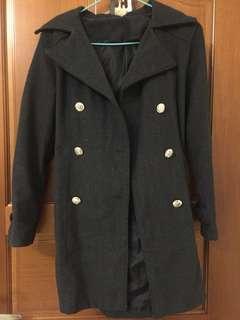 風衣排扣外套