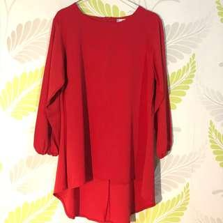 Long Red Blouse