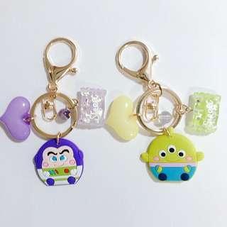 三眼仔鎖匙扣DIY Disney  TsumTsum 日系手作吊飾鎖匙扣