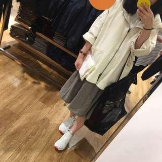 復古文青麻棉超寬鬆韓國款衛衣外套 連身裙 褲 外套 牛仔