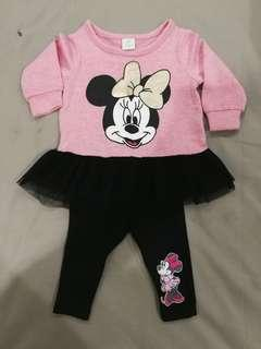 Minnie Mouse shirt and pants